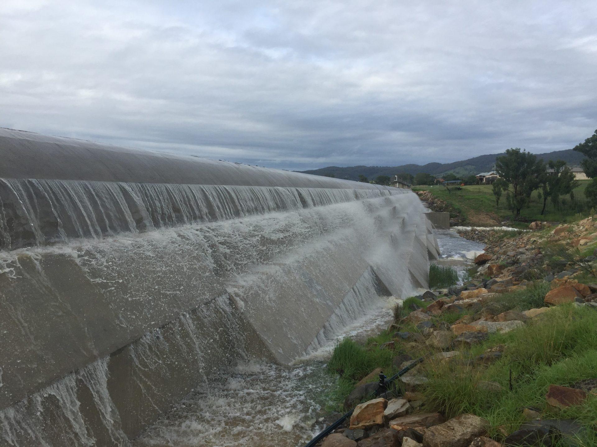 Tenterfield Dam Overflowing 14 Feb 2020