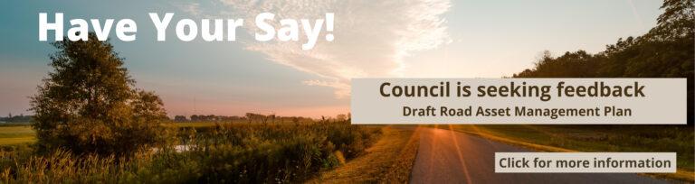 Feedback Draft Plans Road Asset Management Plan